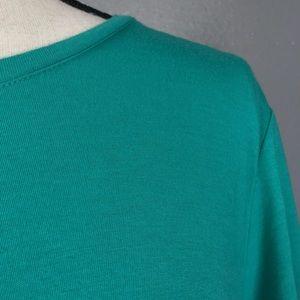 LOGO Tops - LOGO Lori Goldstein split back pocket tunic teal